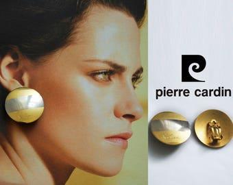 Vintage PIERRE CARDIN earrings, 1990s Pierre Cardin clip earrings, luxury Pierre Cardin bijoux vintage.