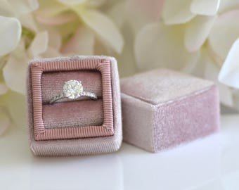 Ballerina Pink Handmade Ring Box for Wedding Rings, Engagement Rings, Fine Jewelry
