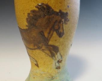 Tall Tumbler- Galloping Dark Bay Draft Horse Mare