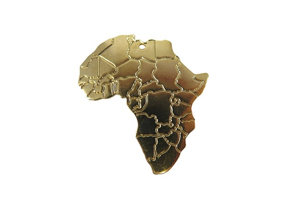 Gold Plated Africa Pendants (4x) (M779-C)