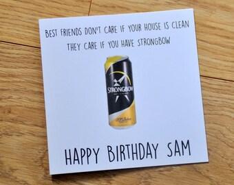 Best Friend Card, Friendship Card, Friend Card, Card for Friend, Alcohol, Alcohol Card, Birthday Card, BFF Card, Handmade Card, BFF, Humour
