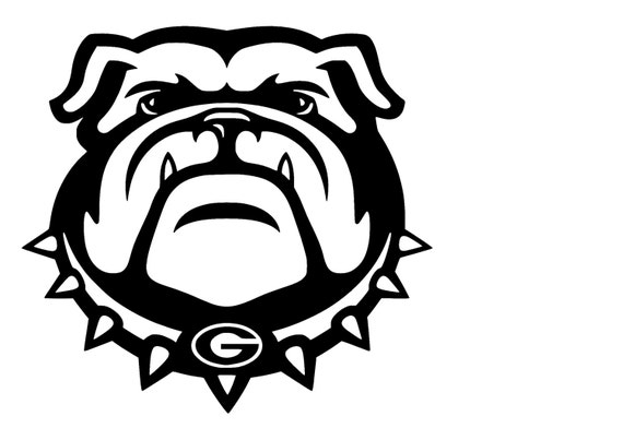 university of georgia bulldogs decal svg cut files instant rh etsy com georgia bulldog clipart logo georgia bulldog clipart black and white