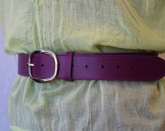 leather belt; women belt. Purple belt; Purple leather belt. belt leather woman (ET.25)
