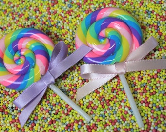 Pastel Swirl Lollipop Pin - Decora Fairy Kei Kawaii