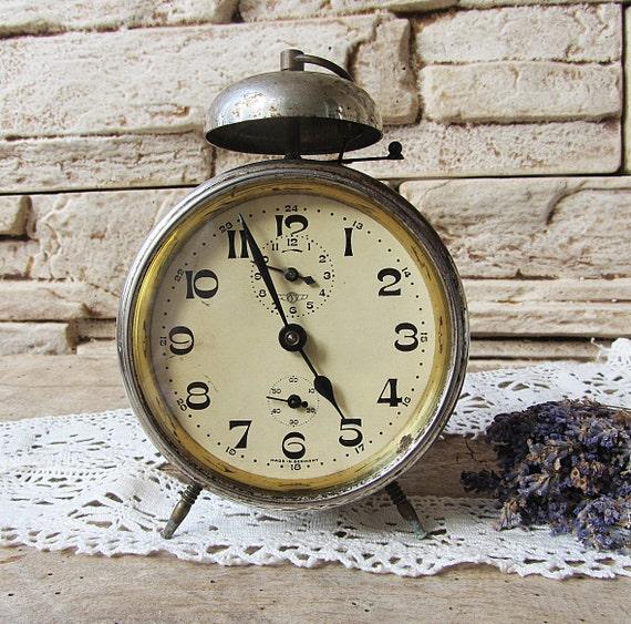 Antique German Alarm Clock Kienzle Retro Clock Working Old