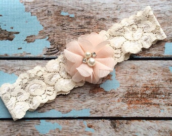 wedding garter / BLUSH FLOWER    / toss garter ONLY / wedding garter / bridal garter / toss garter