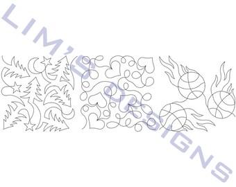 "Three Quilt Patterns N35 machine embroidery designs - 3 sizes 4x4"", 5x5"", 6x6"""
