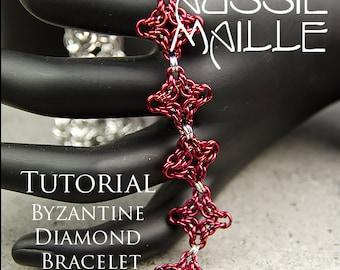 Chain Maille  Tutorial - Byzantine Diamond Bracelet