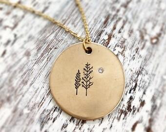 Betreuung Halskette - Gold Baum Anhänger Halskette mit Swarovski Kristall Akzent - Ermutigung - Christian Schmuck-glauben Halskette