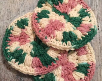 100% Cotton Face Scrubbies - set of 3 - Mother's Day - Birthday - Skin Care