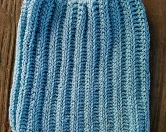 Blue pussy hat, pussyhat, women's march hat, blue wave, acrylic, blue heather, unity, resist, blue pussyhat, feminism