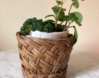 Vintage Basket, Vintage Planter Basket, Decorative Basket