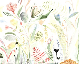 The Valley- Modern Botanical Watercolor Print