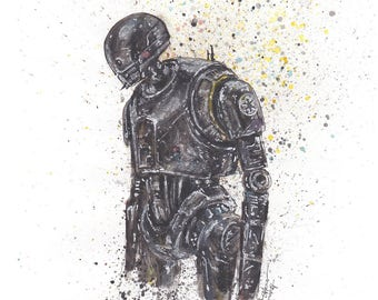 Star Wars K-2SO 8.5x11 Signed Art Print