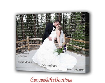 Anniversary day gift first dance lyrics picture with wedding