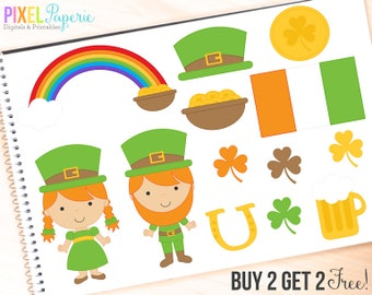 st patricks day clipart irish clip art digital - St. Patrick's Day Digital Clipart - BUY 2 GET 2 FREE