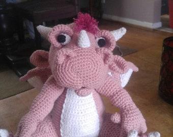Amigurumi Pink Dragon