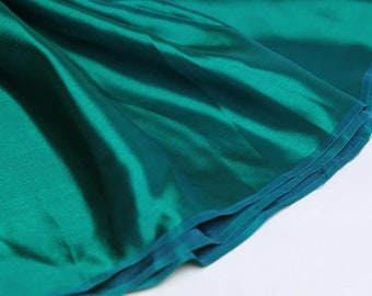 Satin viscose and silk turquoise 2.4 m