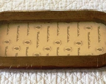 Wooden Frame, Picture Frame, Needlecraft Frame, Small Oblong Wooden Frame, Cross Stitching Frame