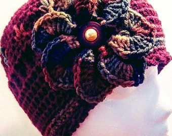 Cranberry Autumn womens Cloche Hat