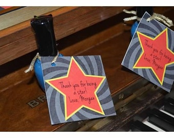 DIY Printable Hollywood Party Favor Tags