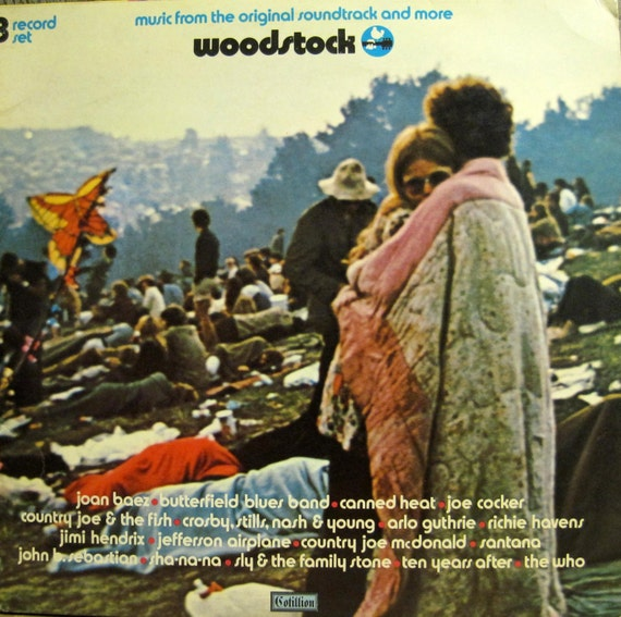 Original 70 Woodstock Soundtrack Cotillion Records 1st