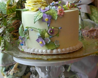 "Faux cake ""Susie"" table display gift yellow lavender"