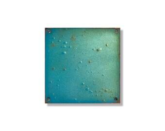 Blue Green Fade   Metal Wall Art