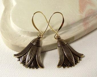 Earrings - Gold Lotus Flower Earrings