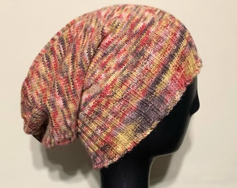 Hand Knit Slouchy Sockhead Hat
