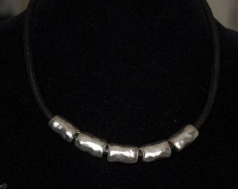 Funky Rock 'n Roll  metal bead necklace.