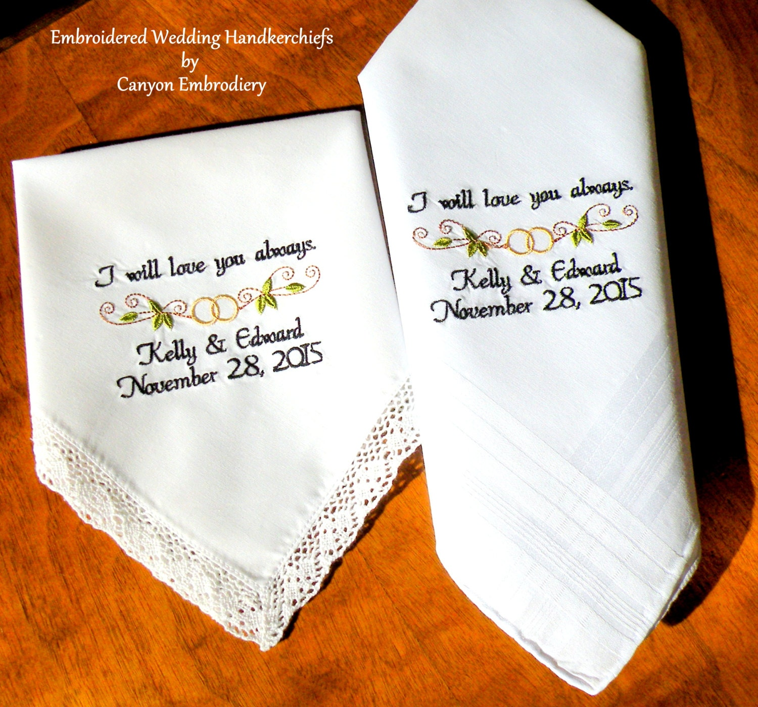 Bride and Groom Gifts - I will love you always - Wedding Date ...