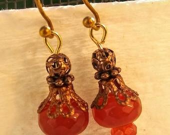 Faceted Carnelian Earrings