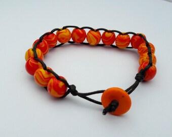 Beaded Criss Cross Bracelet