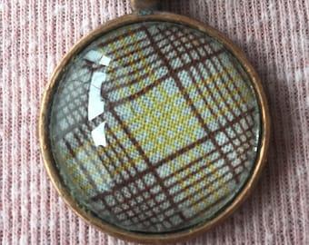 Brown Plaid Keychain
