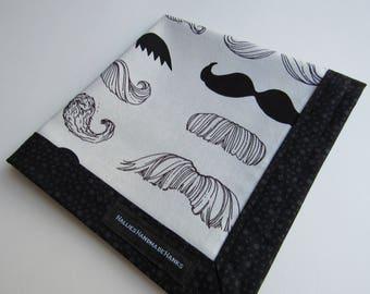 EDC Hank Mustache Fabric Handmade Handmade Cotton Hank Everyday Carry Pocket Dump Hank Mens Handkerchief Gift for Him