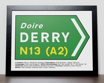 Irish Road signs - DERRY