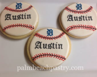 BASEBALL  Sugar Cookie favors 1 Dozen (12)