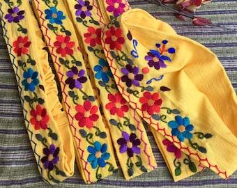 Headband from Guatemala /Flowers Headband/ Bandana Style/Cotton/Elasticated hairband/Multi-Colour hairbands/ Colourful hair accessories