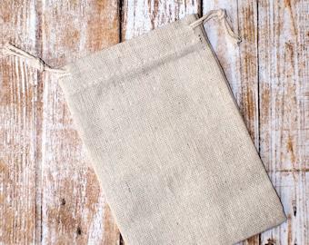 """4"""" x 6""""  cotton muslin bags drawstring 10pcs 10cm x 15cm"""