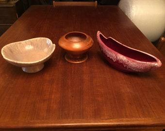 Set of Three (3) Vintage 1960s Mid-Century Pottery Planters - Royal Haeger, Freeman-McFarlin