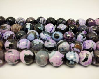 Faceted Beads Agate Beads 12mm Faceted Agate Beads Multicolor Beads 12mm Large Beads for Jewelry Making Bracelets Beads Necklace Beads