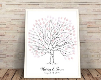 Printable wedding Tree, wedding tree centerpiece, Wedding Tree, fingerprint tree, Wedding Guest Book, Wedding Trees, tree with no leaves