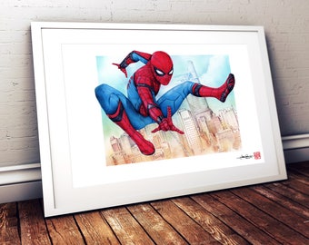 Spider-Man Homecoming - Illustrated Giclee Print