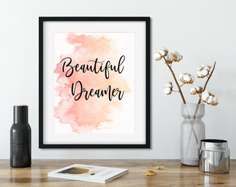 Beautiful Dreamer Printable