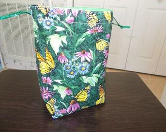 Knitting project bag, Kip bag, project bag, crochet bag, sock knitting bag, knitting bag, small size bag, drawstring bag, sock bag, toy bag