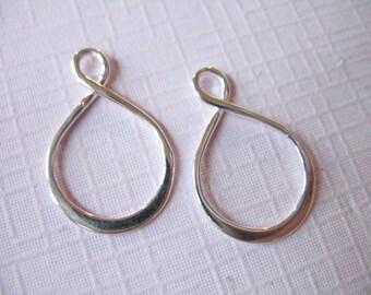 Shop Sale..10 pcs, Wholesale Infinity Links Connectors Pendants Charms, 925 Sterling Silver, 20x13 mm, wholesale n30s