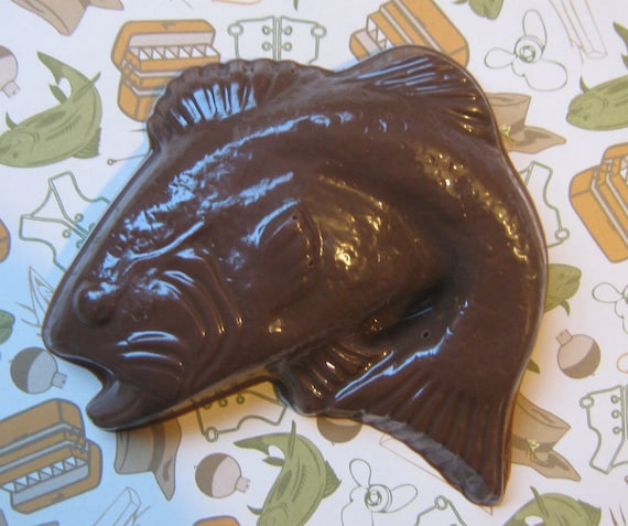 Kiss My Bass - Large solid chocolate fish cake topper party favor