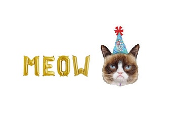 Meow Gold Letter Balloons,Meow Gold Balloons,Meow Letter Balloons,Meow Balloons,Meow Birthday,Meow Birthday Theme,Meow Party,Cat Balloon