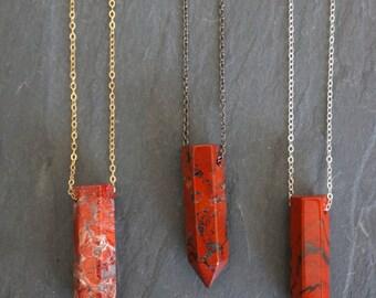 Red Jasper / Gemstone Pendant / Jasper / Jasper Pendant / Jasper Jewelry / Jasper Necklace
